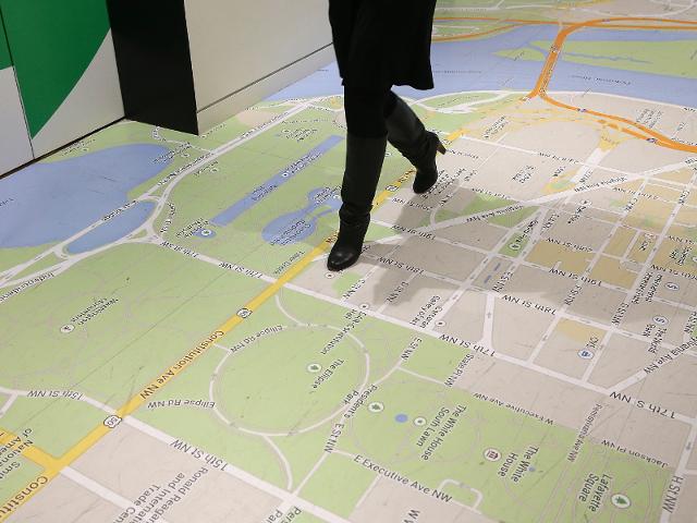 Google's DC office has a Google Map copy