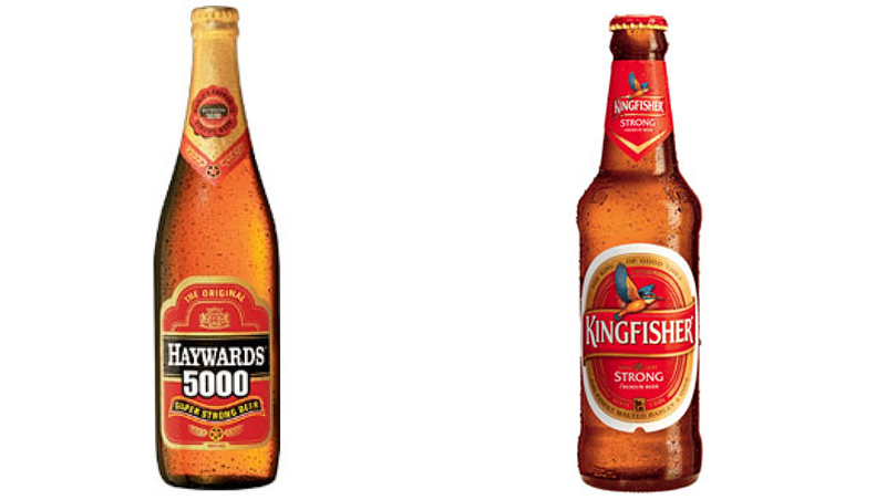 Haywards 5000 and Kingfisher Super Strong