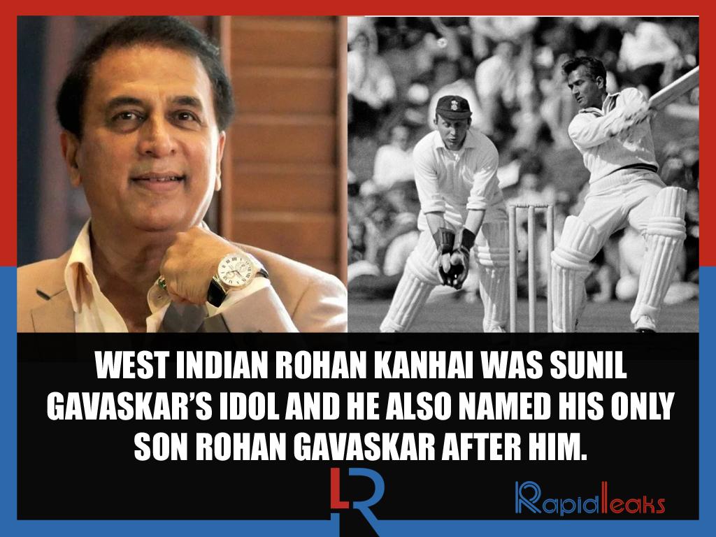 Rohan Kanhai Sunil Gavaskar