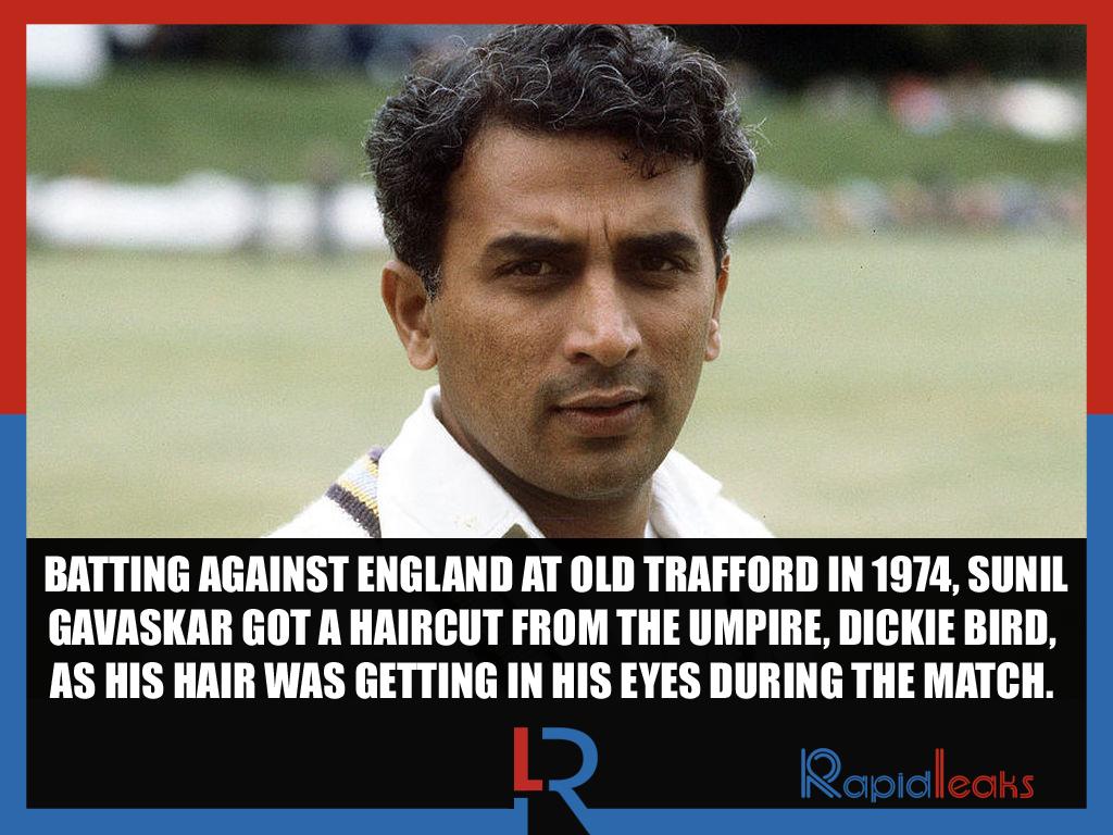 Sunil Gavaskar Hair Cut Umpire