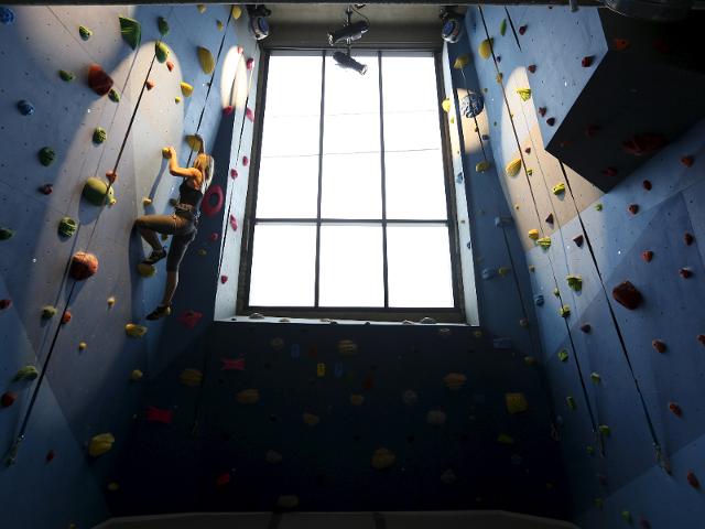 full-fledged indoor rock climbing wall copy