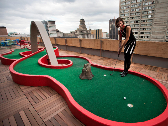 miniature golf on the roof google copy