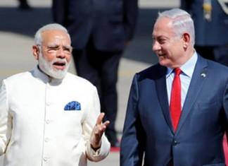 Narendra Modi and Prime Minister Benjamin Netanyahu