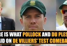 De Villiers' Test Comeback