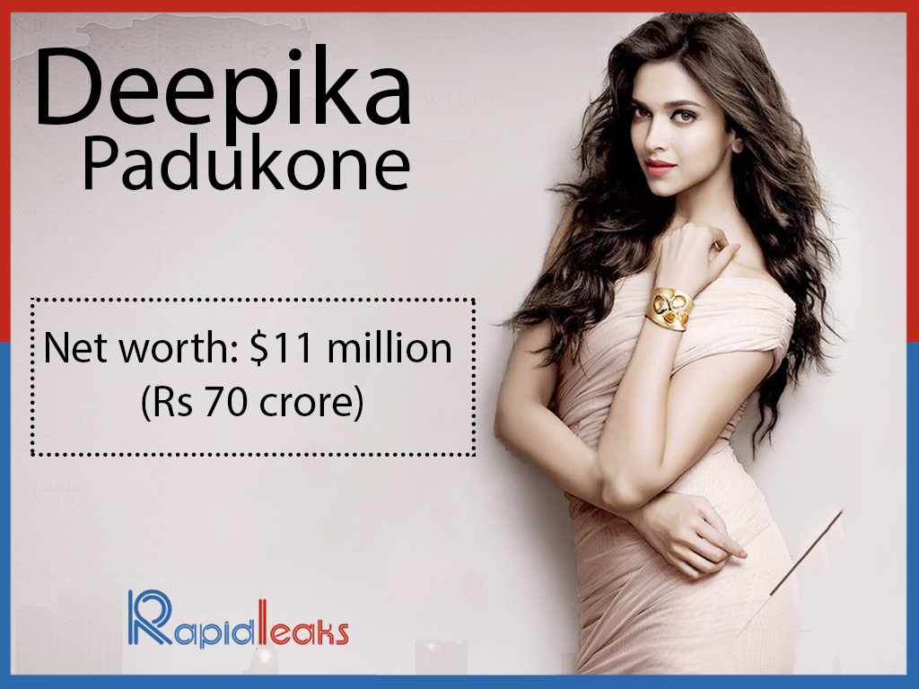 Deepika Padukone: Net worth: Rs 70 crore