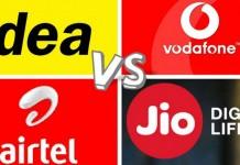 Idea, Airtel, Vodafone And Reliance Jio