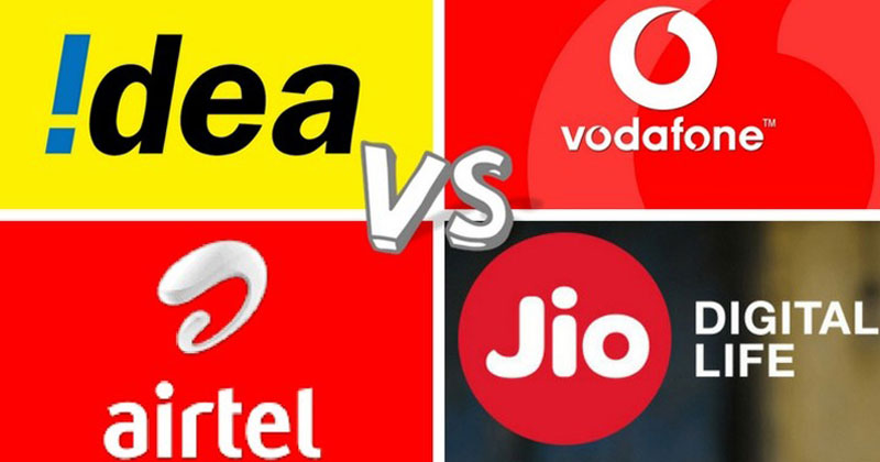 Idea, Airtel, Vodafone And Reliance Jio