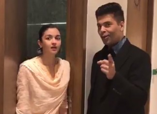 Karan Johar And Alia Bhatt