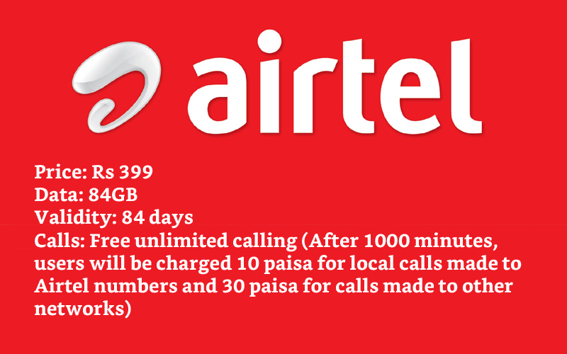 Airtel 84GB Data Plans
