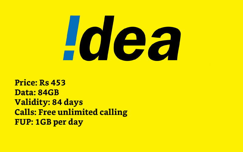 idea 84GB Data Plans