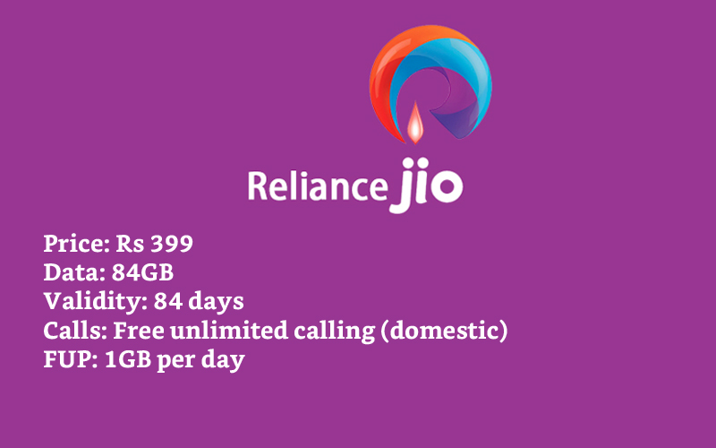 reliance jio 84GB Data Plans