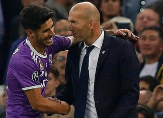 Marco Asensio and zidane