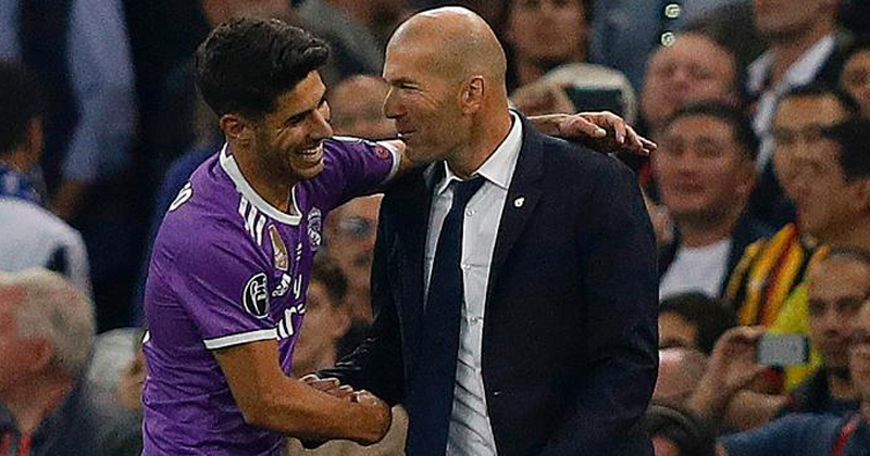 Marco Asensio and zidane