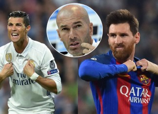 Zidane, Cristiano Ronaldo and Lionel Messi