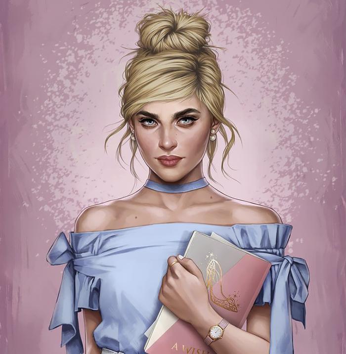 modern Disney princesses cinderella