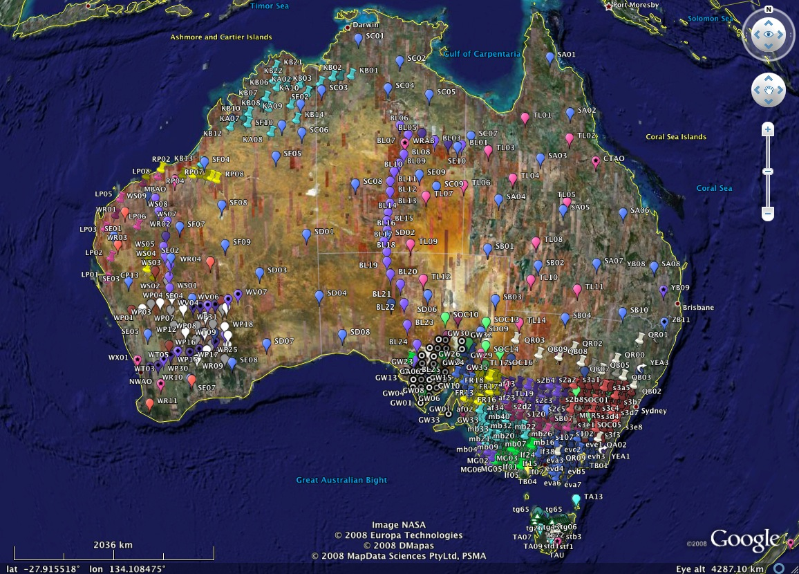 Complete gazetteer for Australia and Oceania and related countries