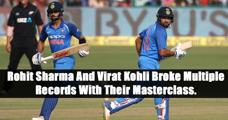 Rohit Sharma And Virat Kohli Broke Multiple Records With Their Masterclass