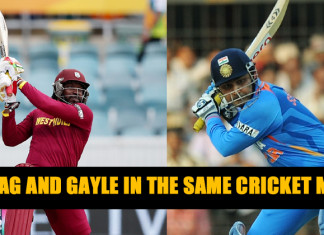 Sehwag and chris gayle