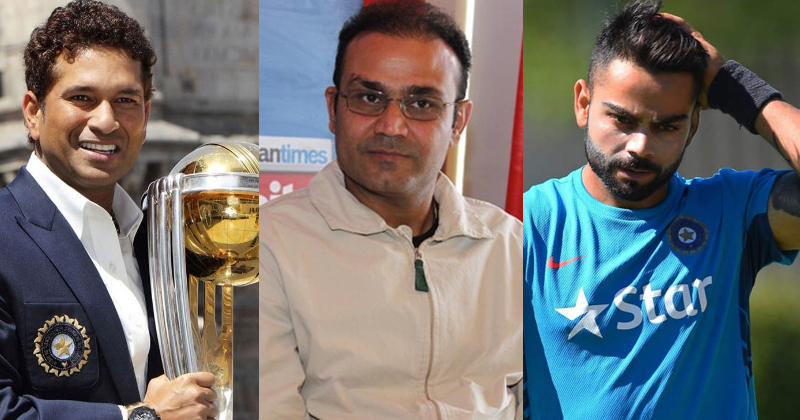 Virender Sehwag, Virat Kohli and Sachin