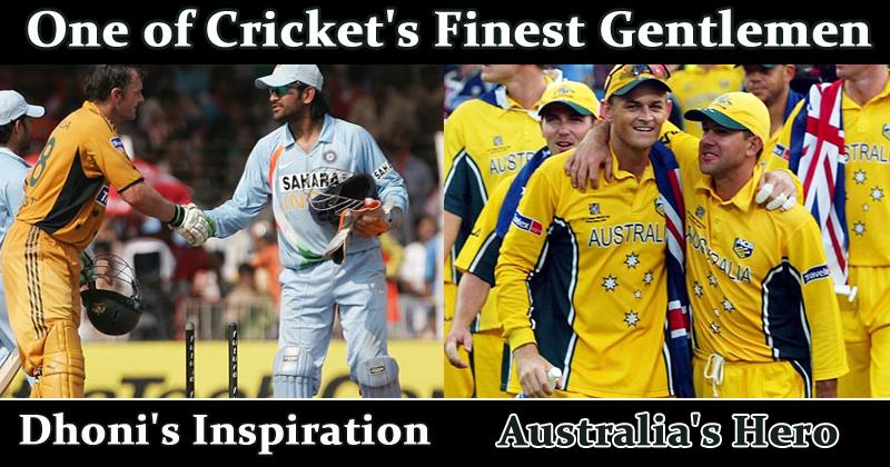 Adam Gilchrist One of Cricket's Finest Gentlemen