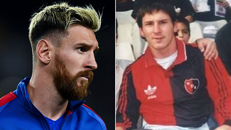 Lionel Messi playing for Newell's Old Boys