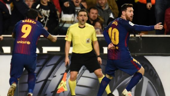 Lionel Messi's goal denied