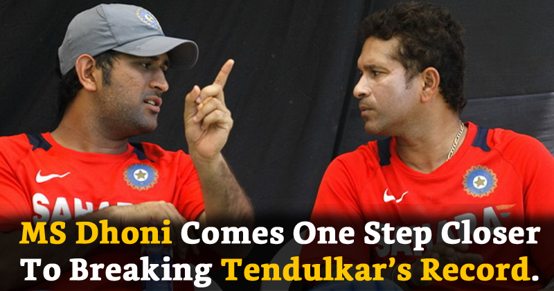 MS Dhoni Comes One Step Closer To Breaking Tendulkar's Record