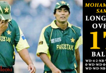 Mohammad Sami Longest over in an ODI match