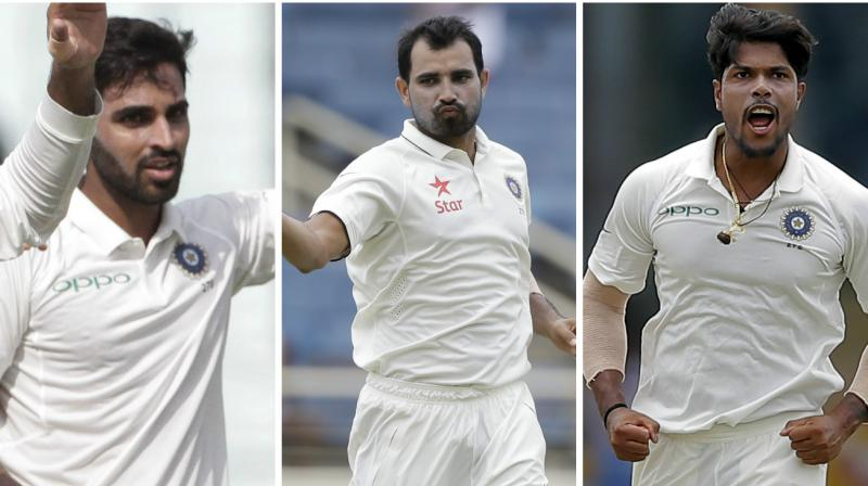 Mohammed Shami, Bhuvneshwar Kumar and Umesh Yadav