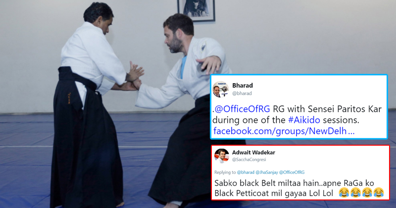 Pictures Of Rahul Gandhi Practicing Aikido Are Making The