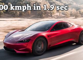 Tesla Roadster 0-100 kmph