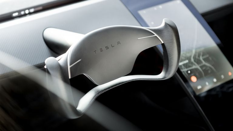 Tesla Roadster interior images