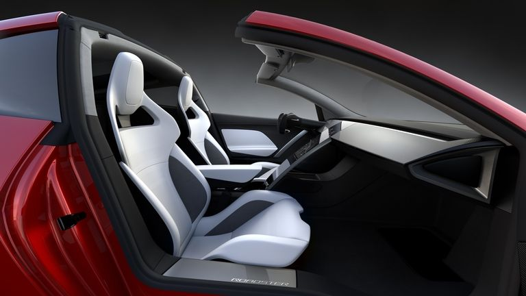 Tesla Roadster interior