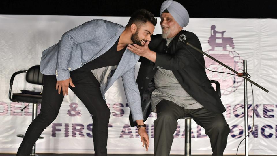 Virat Kohli and Bishan Singh Bedi