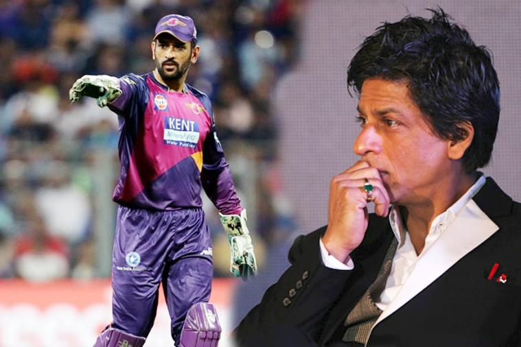 shahrukh khan wants MS Dhoni to play for KKR