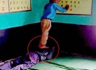 A Teacher Got Captured On Camera Getting Massaged By A Student In Madhya Pradesh.