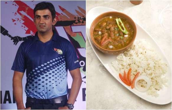 Gautam Gambhir Favorite food is Rajma Chawal