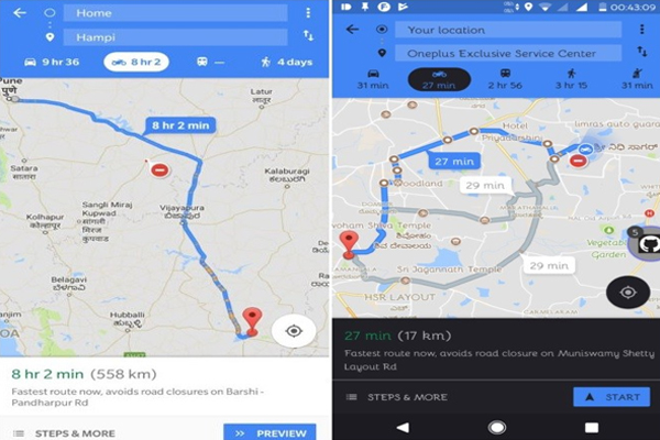 Google Maps For Two-Wheelers