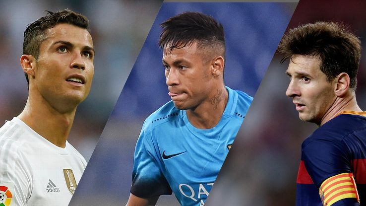 Lionel Messi, Neymar, Ronaldo