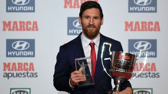 Lionel Messi wins Marca's Best Player Award-min
