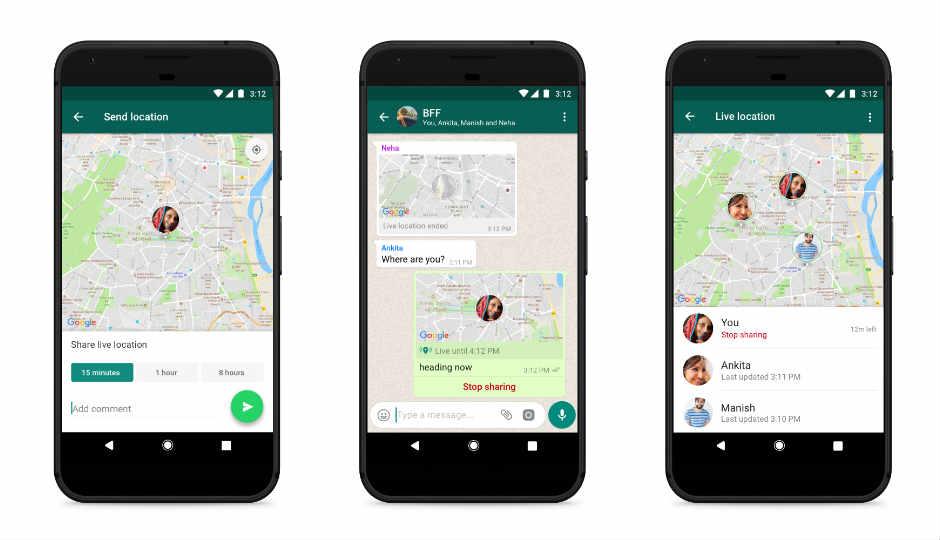 Live location sharing whatsapp
