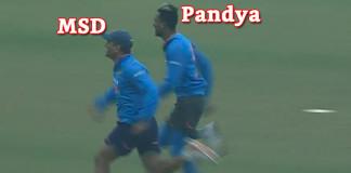 MS Dhoni Beats Hardik Pandya