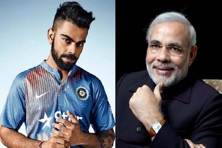 PM Modi and Virat Kohli