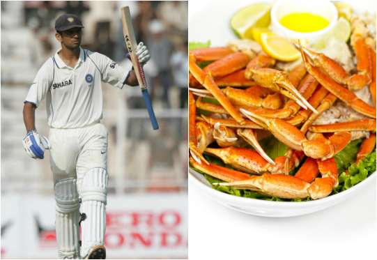 Rahul Dravid Favorite food is Buttery Crab