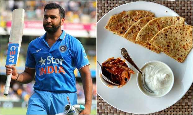 Rohit Sharma Favorite food is Aloo Paratha