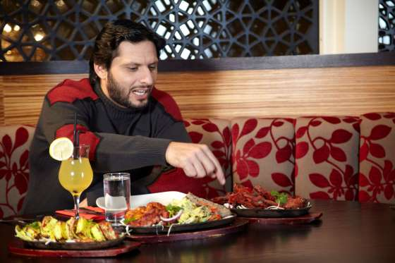 Shahid Afridi favorite dishes are Chicken Biryani, Paneer Tikka, Kheer and Ice Cream