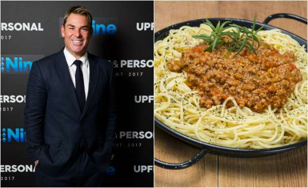 Shane Warne favorite dishes are Spaghetti and baked beans