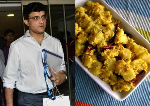 Sourvav Ganguly Favorite foods are Aloo Poshto and Chingari Macher Malaikari