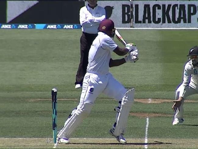 Sunil Ambris hit wicket duck