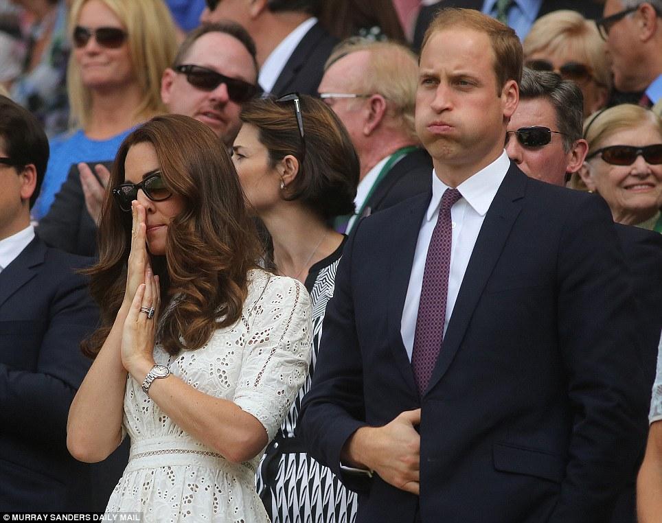 The Duke and Duchess of Cambridge sad